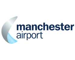 Manchester Airport logo on white background