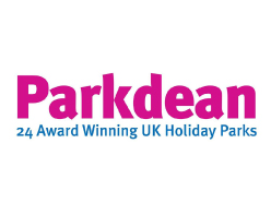 Parkdean logo 24 Award Winning UK holiday Parks on white background