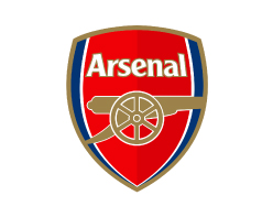 Arsenal logo on white background