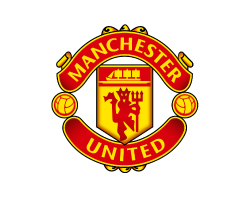 Manchester United logo on white background