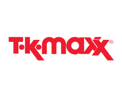 TK Maxx Logo red on white background